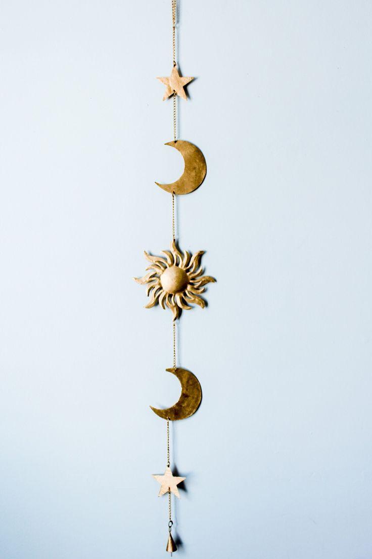Sun Moon Stars Wall Hanging Decor
