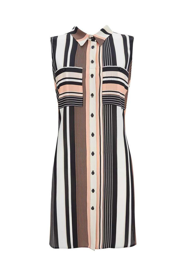 Sleeveless Stripe Long Line Top - Wallis