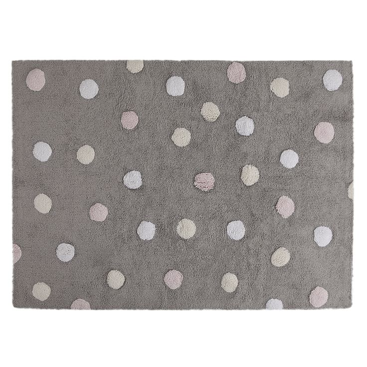 Tricolor dots│Washable Rug│Eco-friendly│Home Deco│#washablerugs│#lorenacanals│#kids│#playroom. Find more at: http://lorenacanals.com/