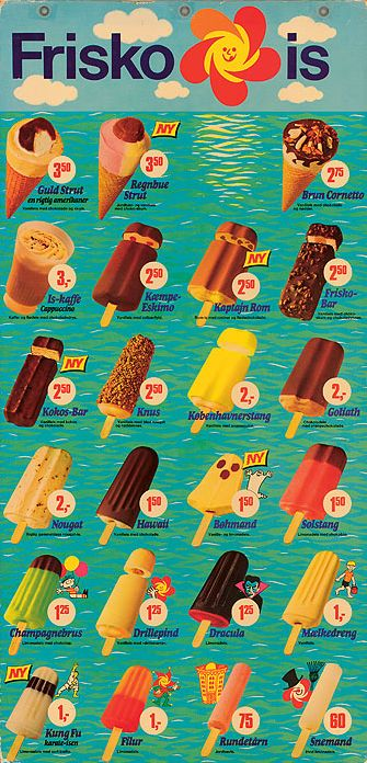 Frisko is Vintage Posters for ice creams