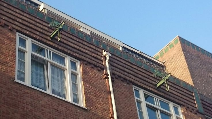 Look at the details... The hoisting beams have this lovely armature in Amsterdam School style!