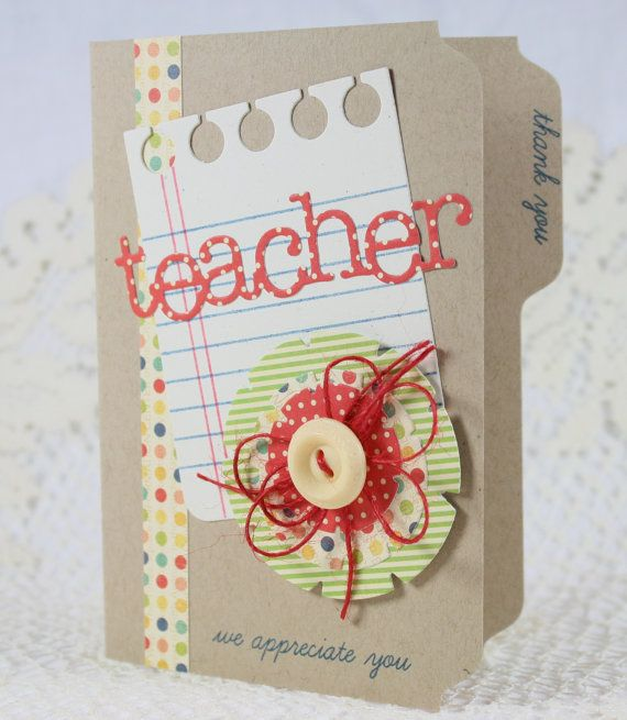 Handmade Greeting Card Teacher Appreciation