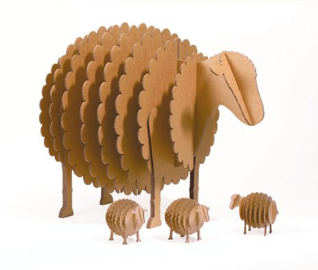 cardboard sheep