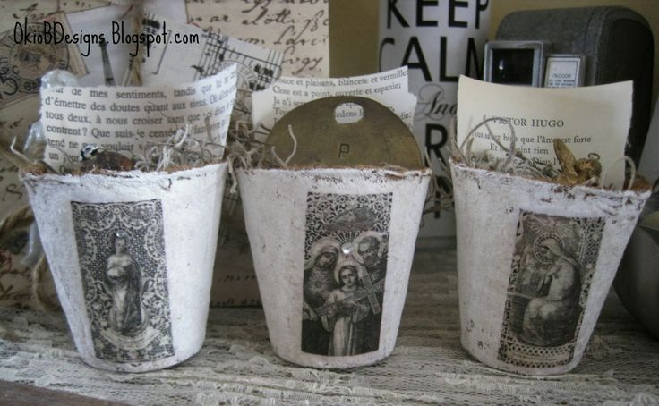 Okio B Designs: Petite Peat Pots