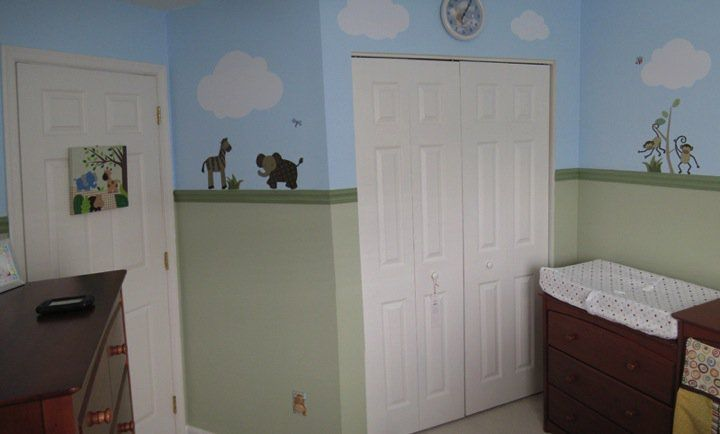 I began designing my son's nursery around January 2010 and completed it just in time for him to arrive in March. It was my first experience completely designing a room and I became addicted always trying to add even more to make the room just that much more special. His room was really small, so I did my best to maximize space.
