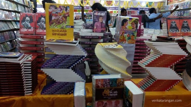 Tamil books in display on just concluded Chennai (India) Book Fair 2016.