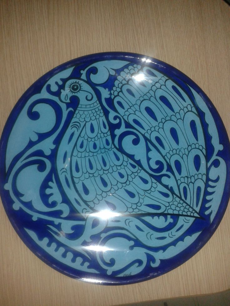 30 cm plate.handmade by Meral Cetin