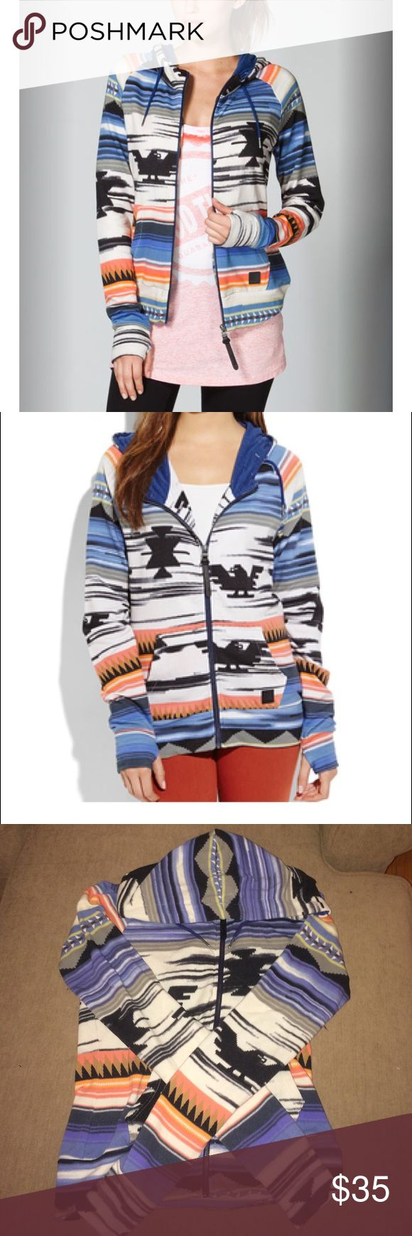 ❣️BOGO❣️ Aztec Zip Up Hoodie BUY THIS ITEM ⭐️ GET ANY $8 ITEM FOR FREE  .         Size S. In good used condition, comfortable and breathable, with thumb holes. Some minor pilling and wear. Bench Brand zip up. Branded for views Urban Outfitters Tops Sweatshirts & Hoodies