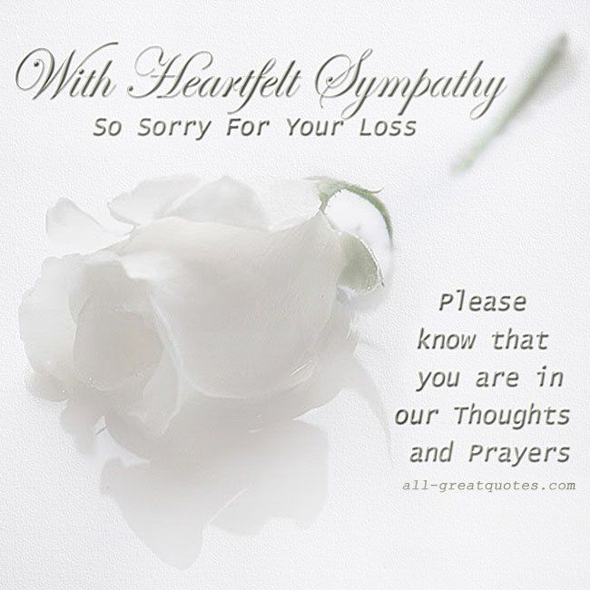 Sympathy Our Deepest And Condolences Your Family You And