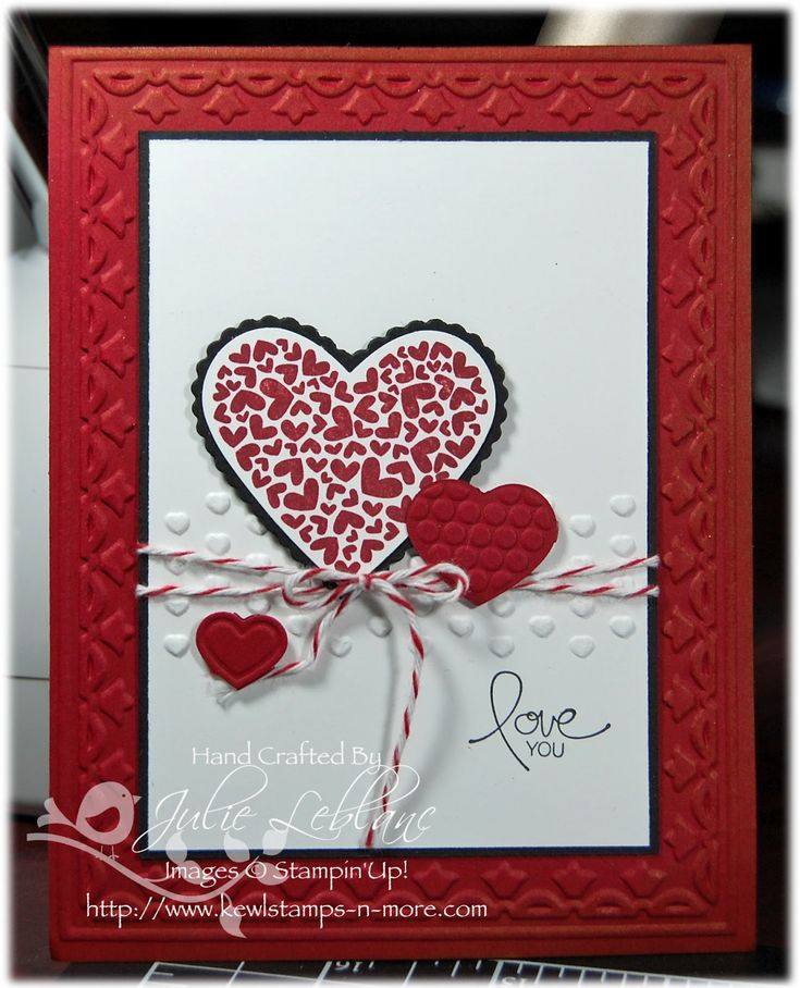 266 best images about Handmade Cards Valentines – Valentine Day Handmade Card