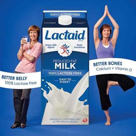 SAVE $1.00  on the Purchase of Any TWO (2) LACTAID® Milk Products