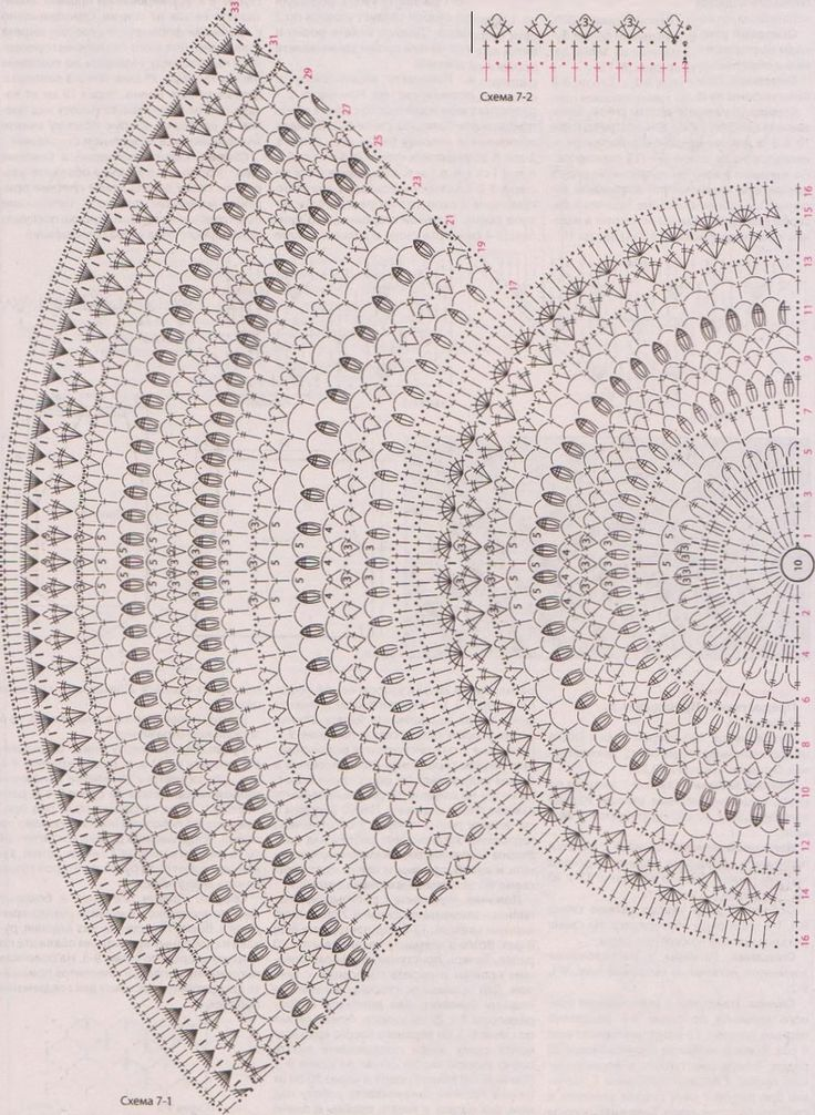 болеро по кругу схема крючок