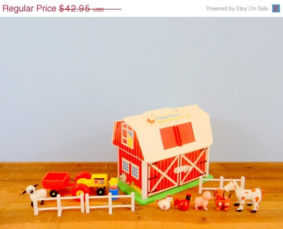 SALE Little People Fisher Price Barn Toy by TheOrangeCollective, $34.36