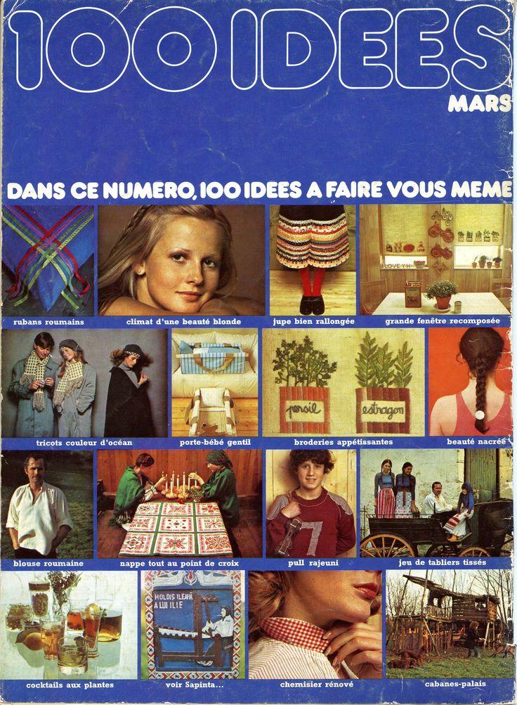 La 4ème de couverture du N° 17 de mars 1975 : à cette époque, la 4ème de couverture des 100 idées donnait un avant-goût (bien alléchant !) de son contenu.