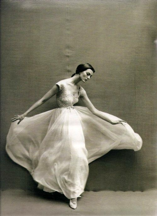 Carmen dell'Orefice by Richard Avedon.  Avedon was a genius and his work is still contemporary, fresh and beautiful.