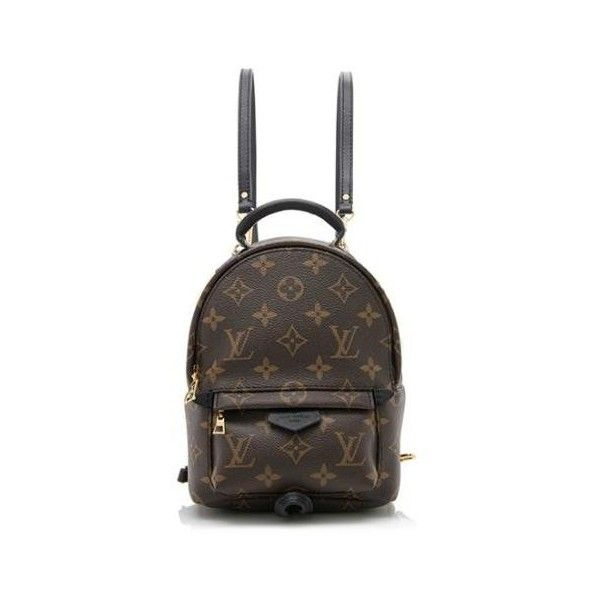 Rental Louis Vuitton Monogram Canvas Palm Springs Mini Backpack (2480 MAD) ❤ liked on Polyvore featuring bags, backpacks, brown, brown crossbody bag, canvas crossbody bag, brown canvas backpack, canvas backpack and crossbody backpack