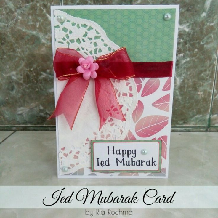 [Card Making] Ied Mubarak Card for Dian