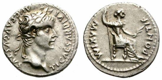 Ancient Coins - TIBERIUS. SILVER DENARIUS. TRIBUTE PENNY. EXCELLENT CONDITION. VERY NICE SPECIMEN
