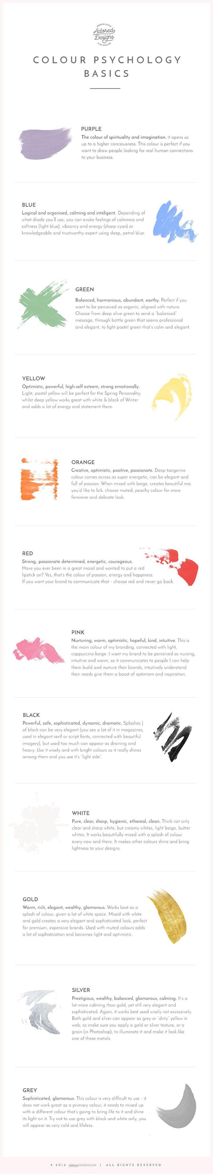 e36c8f89dc791861338dc8344313d566--free-infographic-color-psychology Psychology Infographic : Colour psychology – basics