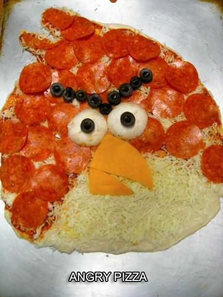 Angry Pizza. I seriously MUST make this, especially for Owyn since he wants an Angry Birds birthday party! Lol!