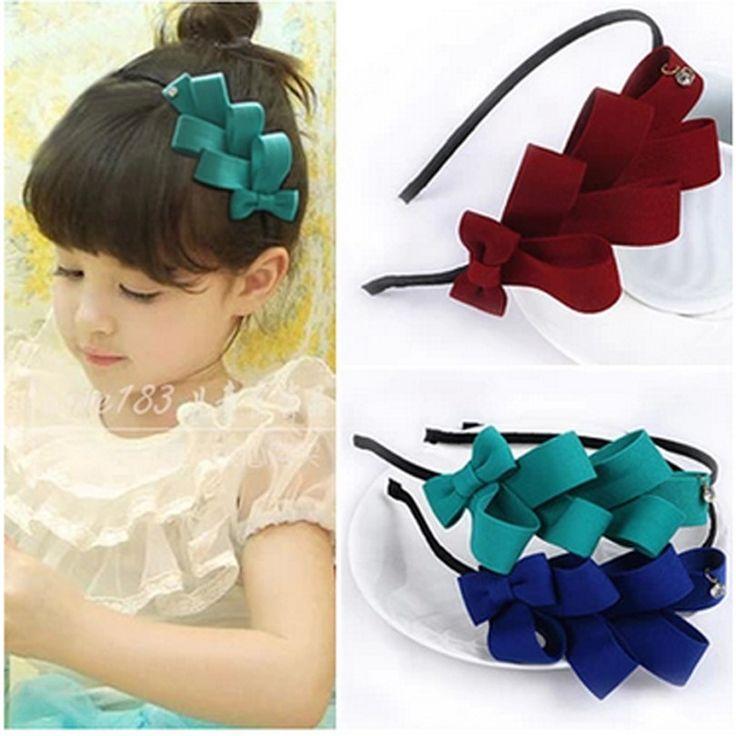 1 pcs 2016 anak-anak gadis busur band headband anak headwear aksesoris rambut