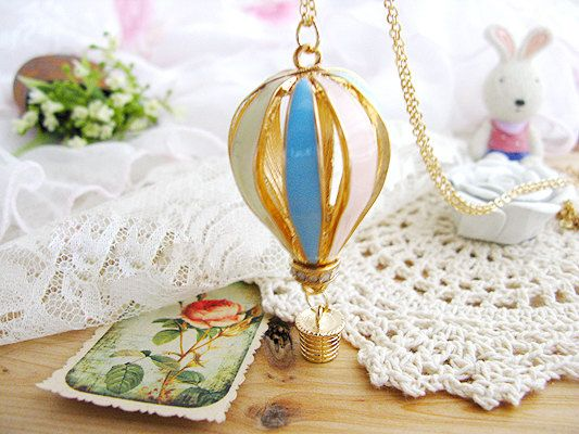 Hot Air Balloon NecklaceThe air dream house by BeautyandLuck, $5.99