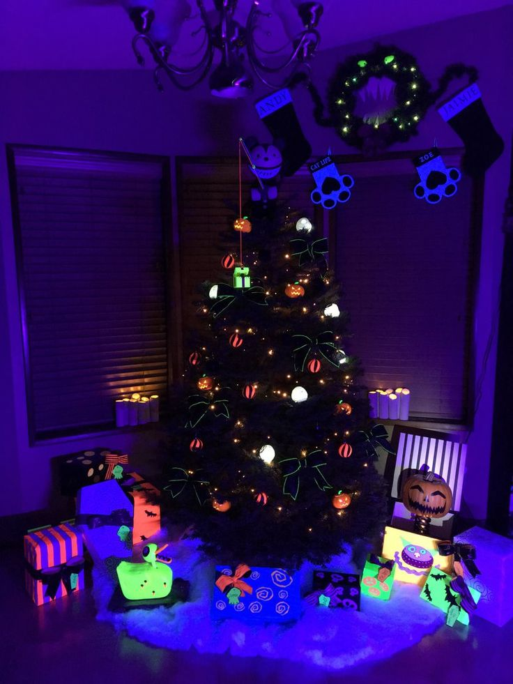 Tree my husband and I created for Christmas 2015. Inspired by The Nightmare Before Christmas Haunted Mansion Disneyland ride