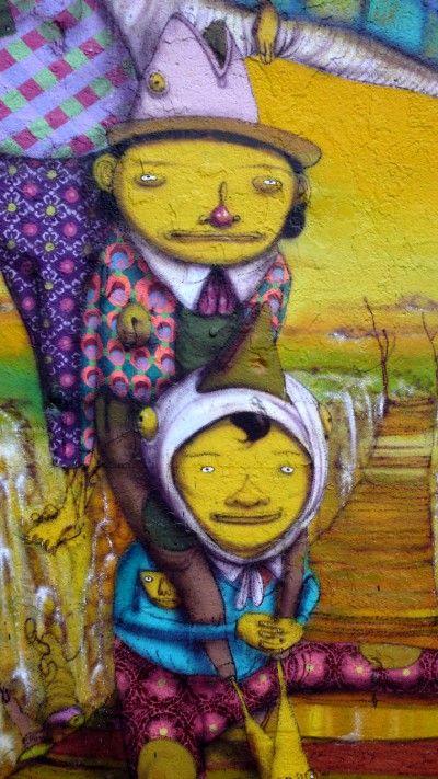 Mural by Os Gemeos / detail