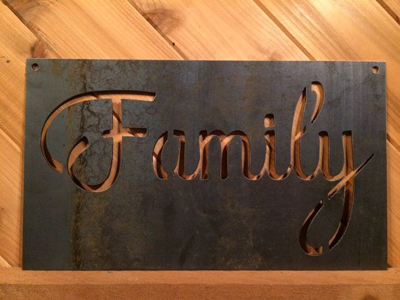 Family Metal Wall Art 127 best metal wall artprecision cut on etsy images on