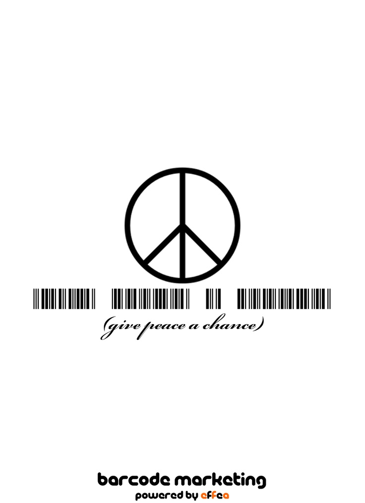 """Barcode """"Give peace a chance"""""""