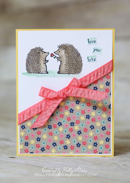 Holly's Hobbies: Lots of Love hostess set, Flirty Flamingo Rushed Ribbon and Affectionately Yours DSP - all AWESOME and all new from @stampinup :)