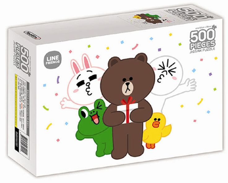 Naver Line Friends Characters 500 pieces Toy Jigsaw Puzzles GIFT #LineFriends