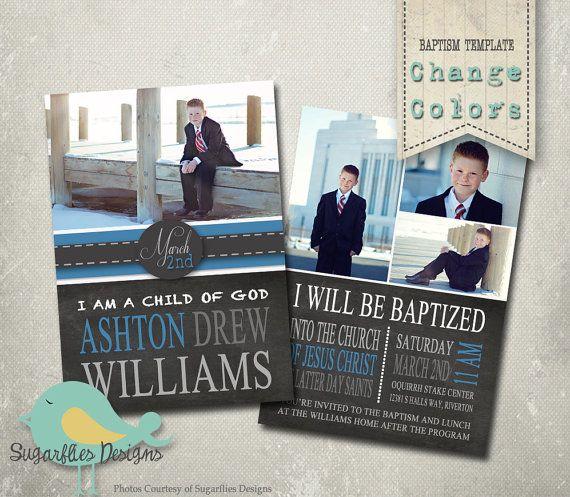 12 best Design Baptism Announcements images on Pinterest