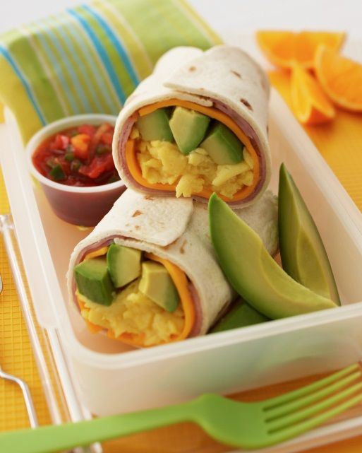 Avocado Breakfast Burrito Recipe!  #recipes: Avocado Recipes, Hams, Breakfast Burrito Recipes, Eggs Breakfast, Food, Breakfast Burritos Recipes, Breakfast Wraps, Breakfast Recipes, Avocado Breakfast