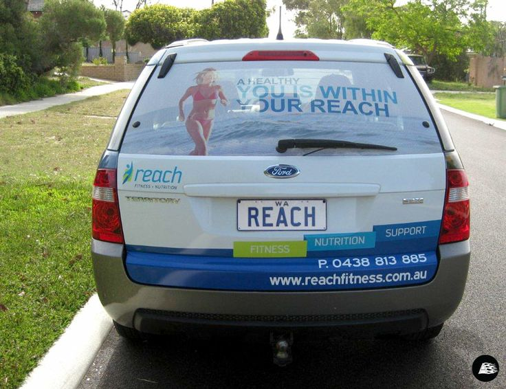 Fitness ford territory vehicle wrap fitness car wrap