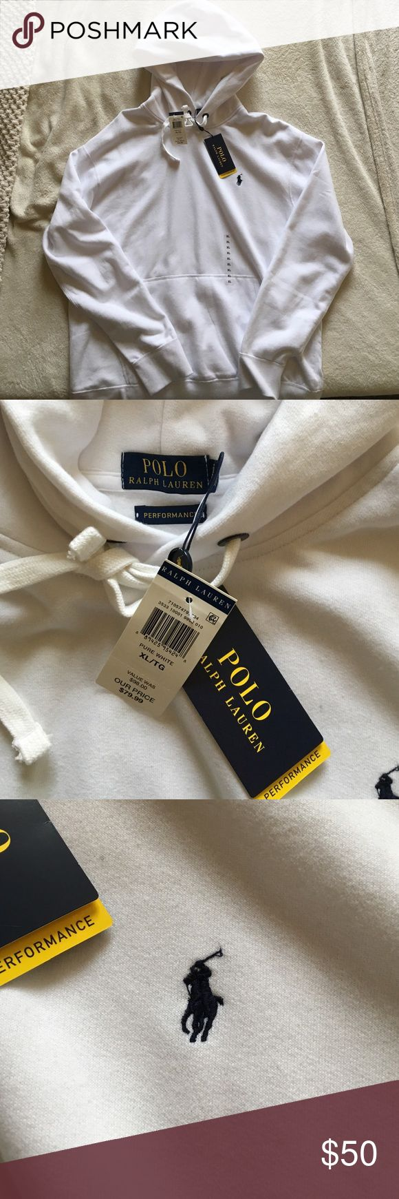 NWT Polo Ralph Lauren performance hoodie size xl Brand new white polo hoodie Ralph Lauren Other