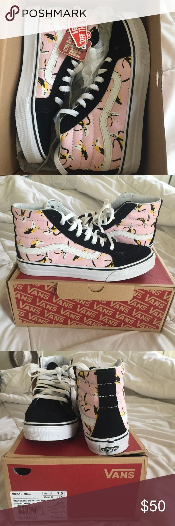 Vans banana high tops Brand new size 8 women size 7 men Vans Shoes Sneakers - kinds of mens shoes, mens fashion shoes, mens dress sandals shoes