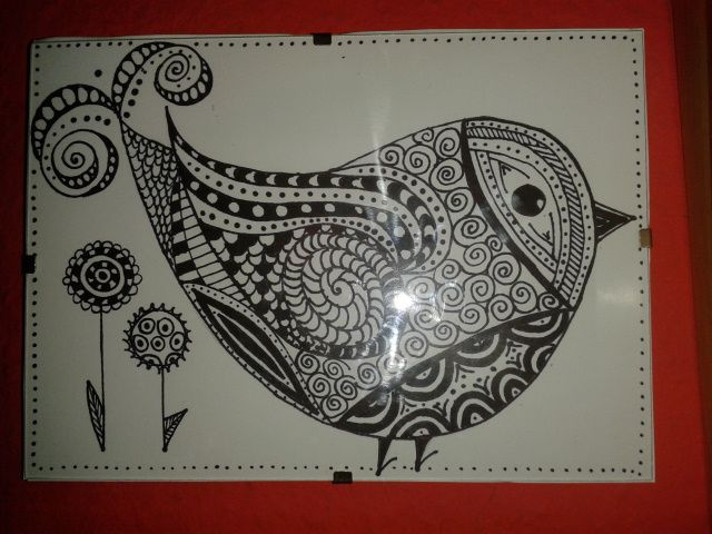 zentangle madár