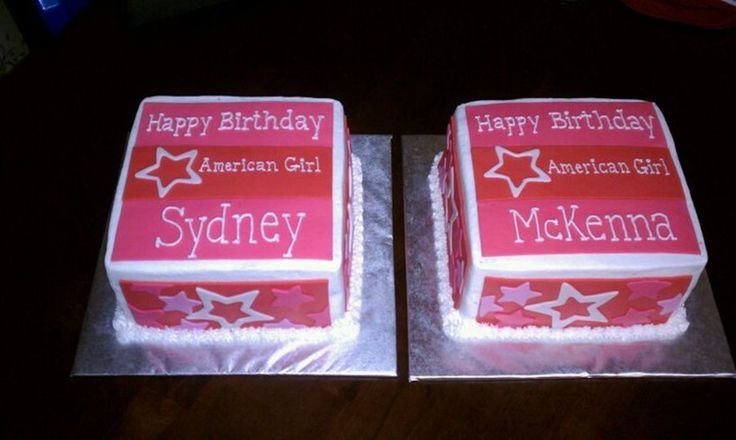 American Girl Doll Boxes  on Cake Central