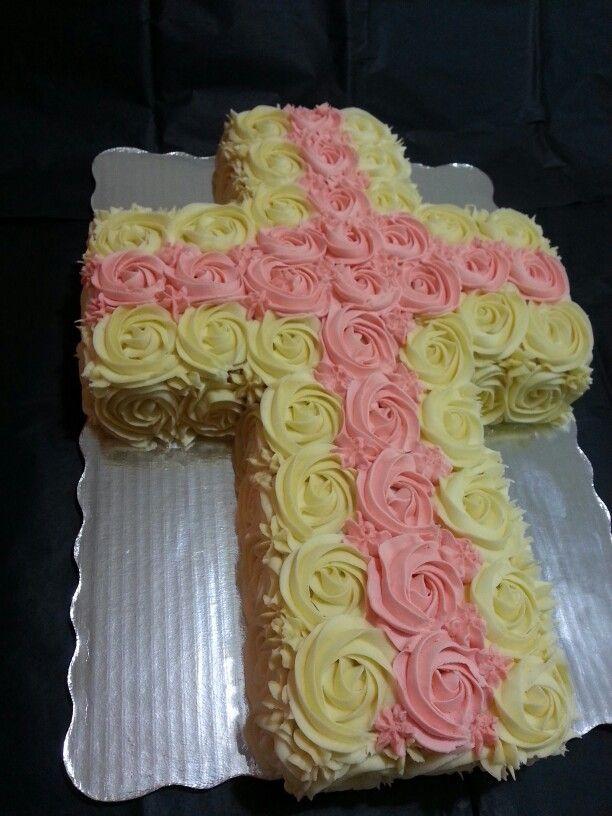 Pastel de cruz para Bautizo