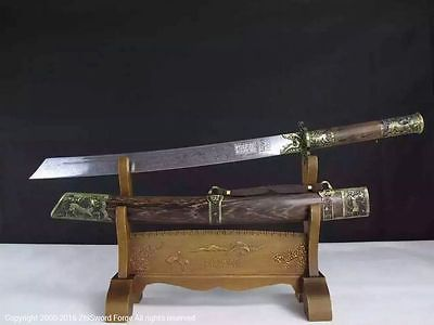 Handmade Chinese Warrior Dao Sword Of The Emperor Kangxi Qing ...