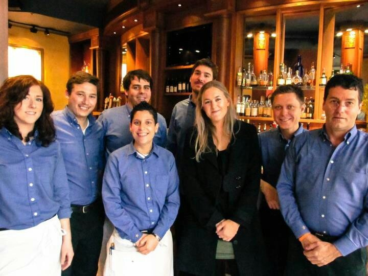 Caitlin with the crew from  Gracies Restaurant in Providence Rhode Island USA