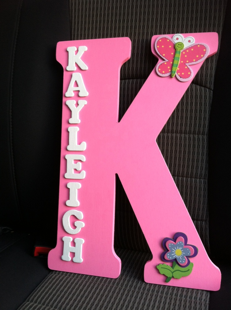 I bought a large wooden letter k from a a local craft for Small wooden numbers craft