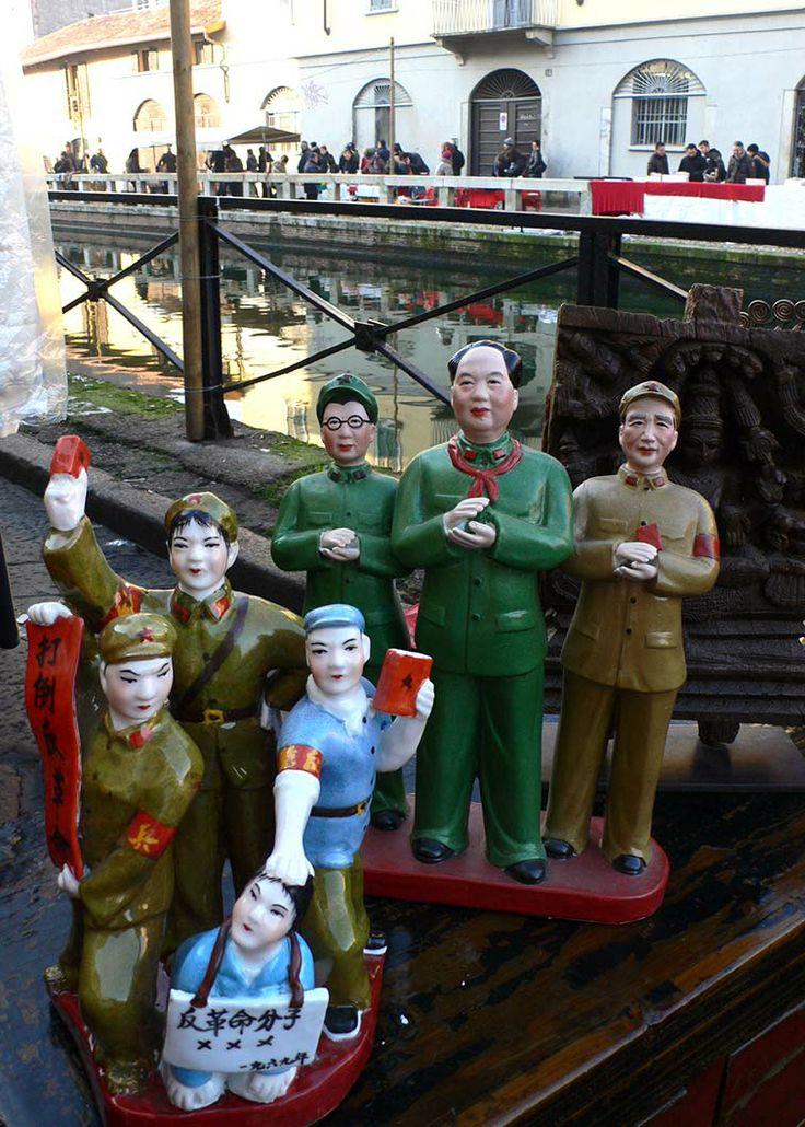 La Cina di Mao al Mercatone dell'Antiquariato dei Navigli.