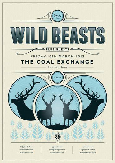 wild beasts poster by carl rylatt