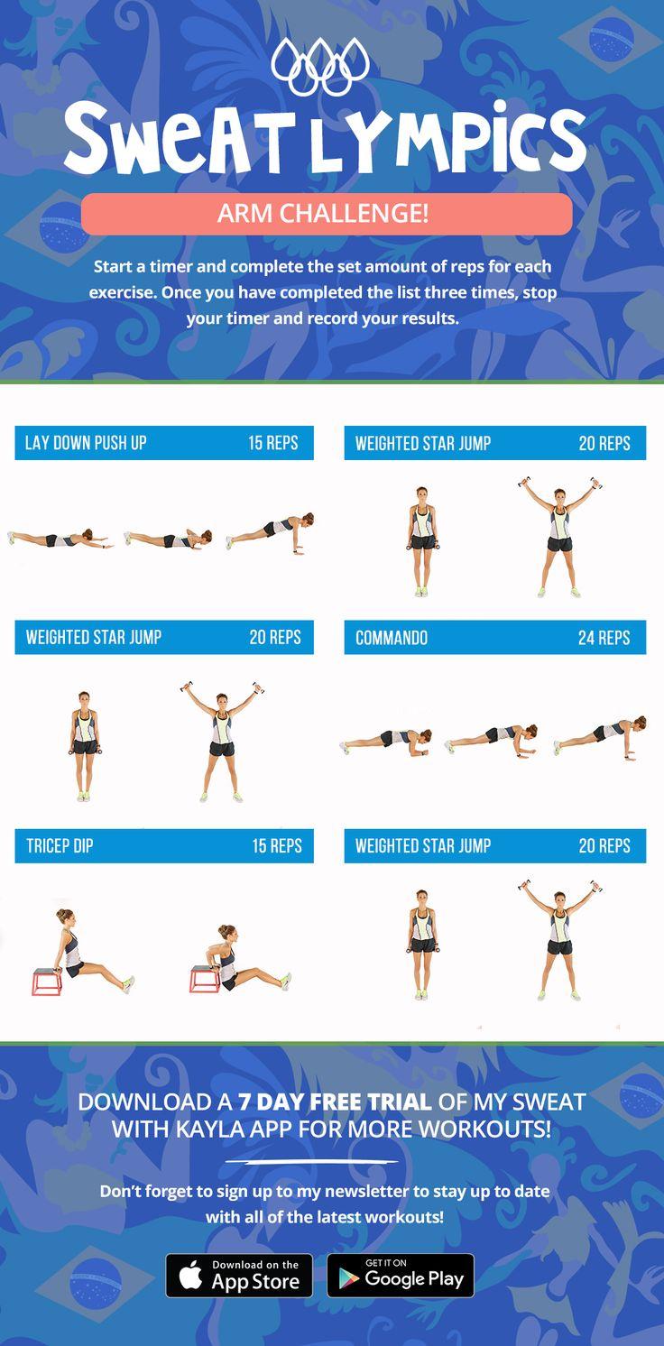 Sweatlympics Arm Challenge!   Kayla Itsines   Bloglovin'
