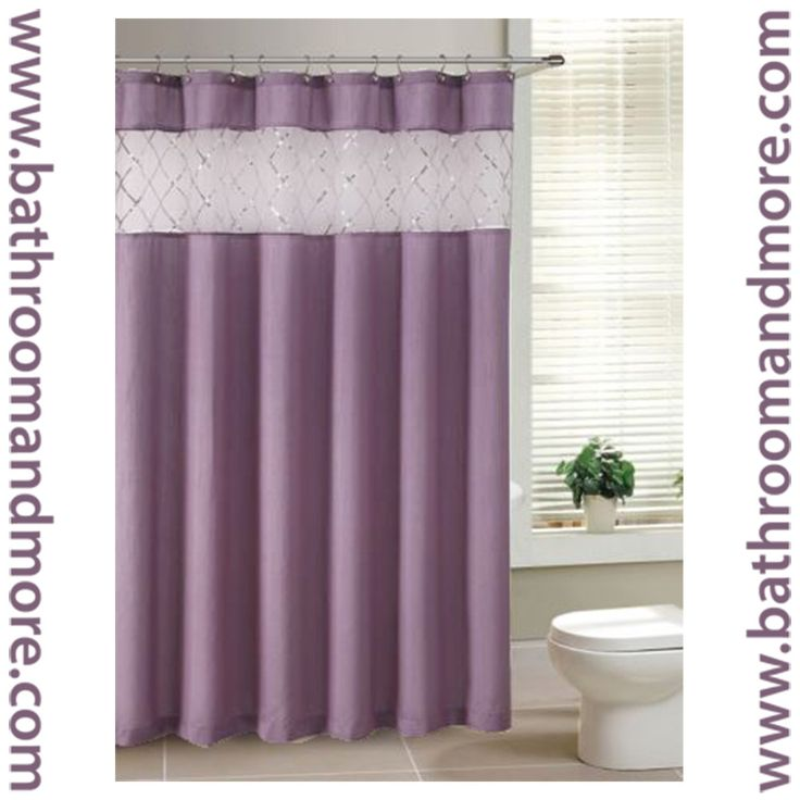 Purple Fabric Shower Curtain   Purple Fabric Shower Curtain with Sheer Winodw Sequin Crossed Veil. 1000  ideas about Purple Shower Curtains on Pinterest   Purple