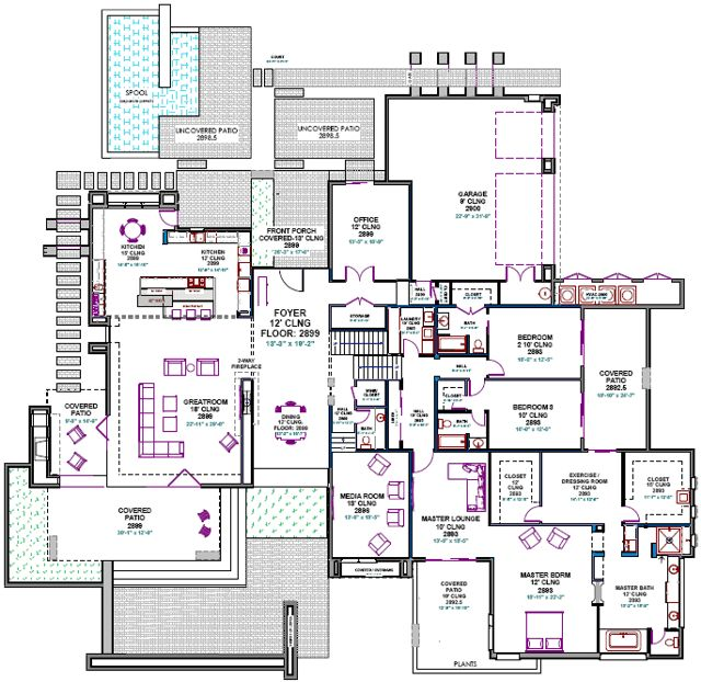 Custom House Plans Southwest Contemporary Custom Home Design Custom Home  Builder Floor Plans Divco Floor Plan Part 35