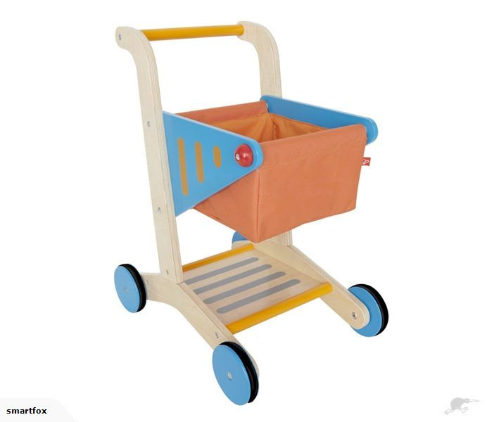 Wooden Shopping Trollley Cart - Hape | Trade Me