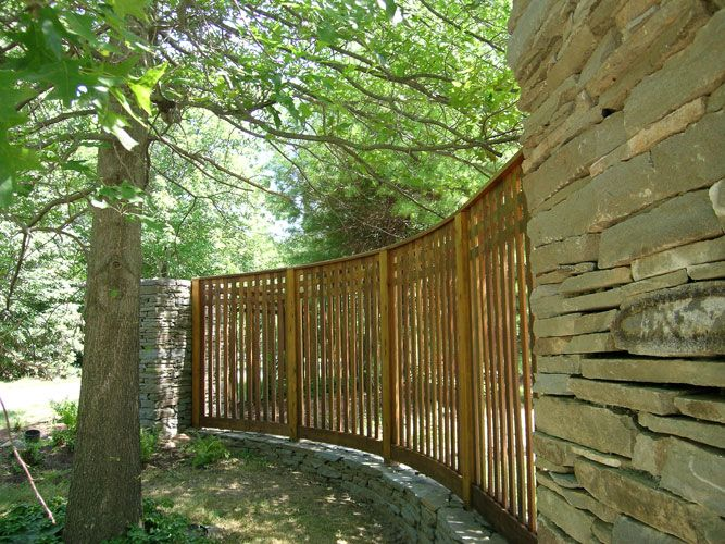 Curved Fence Yahoo Search Results Backyard Ideas